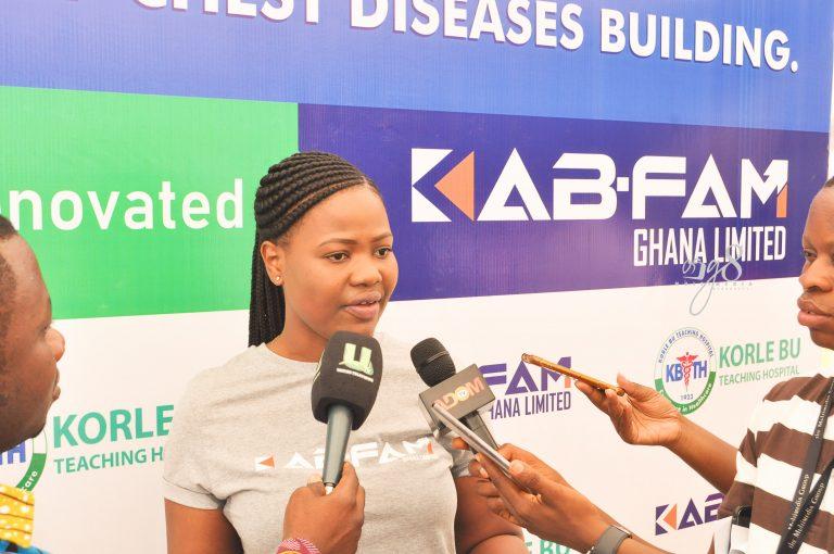 Kab-fam Ghana gives Korle-Bu Chest Clinic facelit