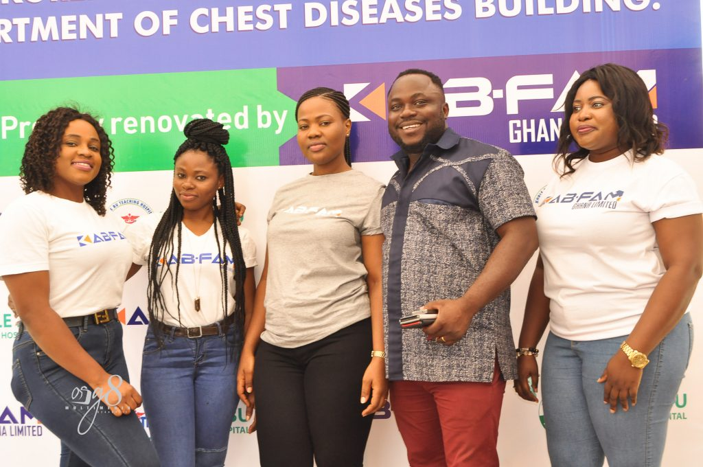 Kabfam Ghana Limited gives facelit to Korle-Bu Chest Clinic